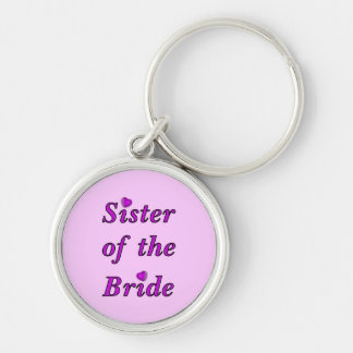 Sister of the Bride Simply Love Silver-Colored Round Key Ring