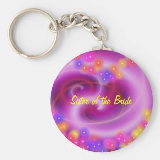 Sister of the Bride Swirly Heart Keychain