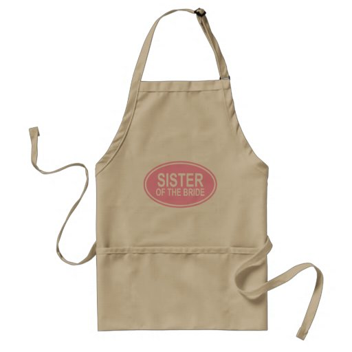 Sister of the Bride Wedding Oval Pink Apron