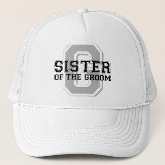 Sister of the Groom Cheer Trucker Hat