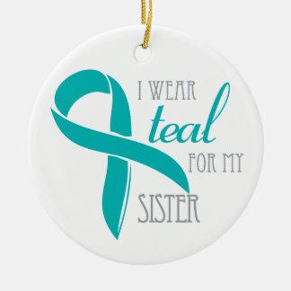 Sister - Ovarian Cancer Ornament