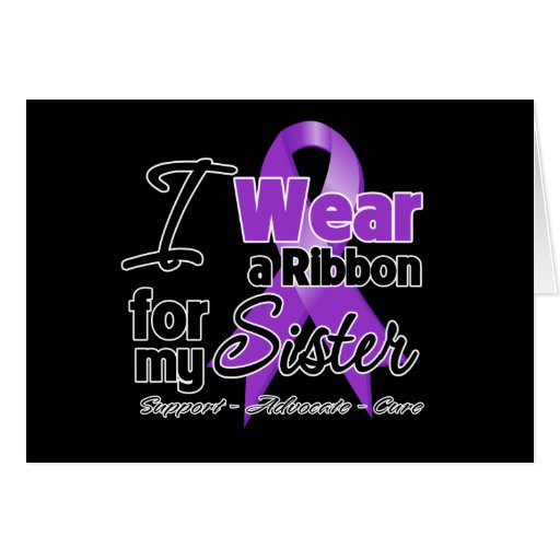 Sister - Pancreatic Cancer Ribbon Greeting Cards