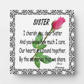 SISTER-PLAQUE DISPLAY PLAQUE