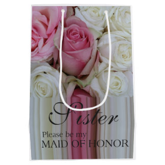 Sister, Please be my Maid of Honor? Medium Gift Bag