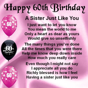 For Sister 60th Birthday Gifts Gift Ideas