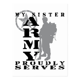Sister Proudly Serves - ARMY Post Cards
