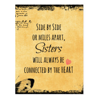 Sister Quote Postcard