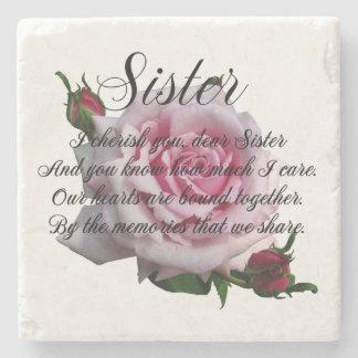 SISTER QUOTE STONE COASTER