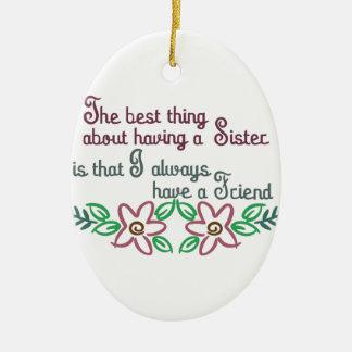 Sister Saying Christmas Ornament