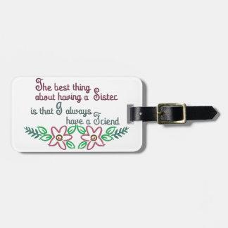 Sister Saying Luggage Tag
