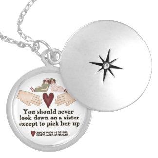 Sister Sentiment Locket necklace