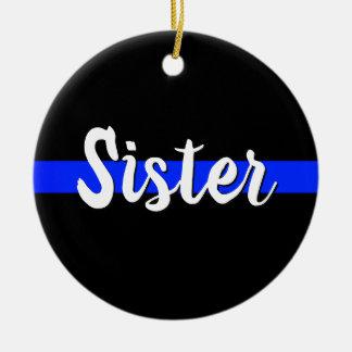 Sister Thin Blue Line Ornament Christmas LEO