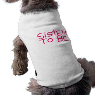 Sister To Be Pink Sleeveless Dog Shirt
