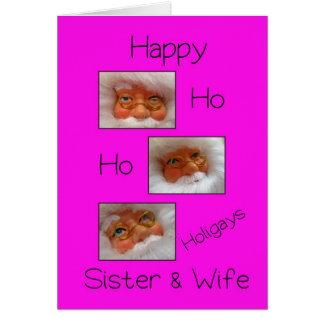sister & wife happy ho ho holigays gay x-mas card