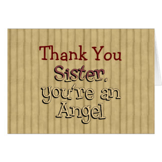 Sister You re an Angel Thank You Note Card