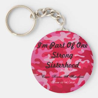 Sisterhood Basic Round Button Key Ring