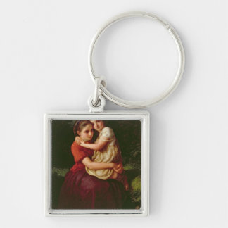 Sisters, 1868 Silver-Colored square key ring