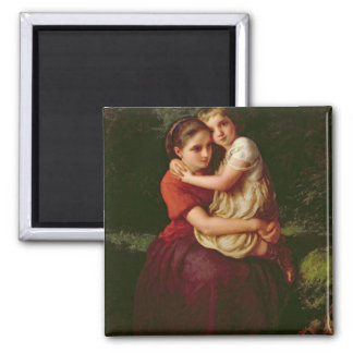 Sisters, 1868 square magnet