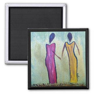 Sisters - African Women Art Magnet