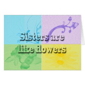 Sisters alike greeting card