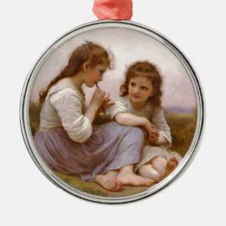 Sisters and Flute Music by Bouguereau Ornament