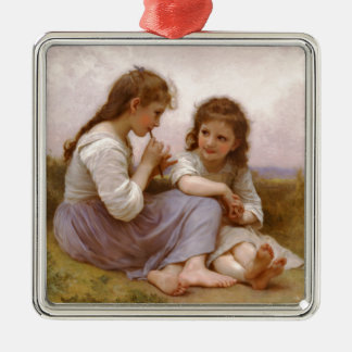 Sisters and Flute Music by Bouguereau Christmas Tree Ornament