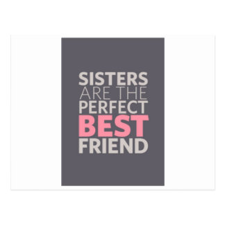 Sisters are Best Friends Postcard