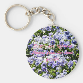 Sisters Are Different Flowers Basic Round Button Key Ring