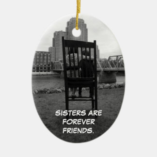 Sisters Are Forever Friends Christmas Ornament