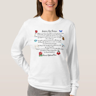 Sisters Are Forever Personalized Poem T-Shirt