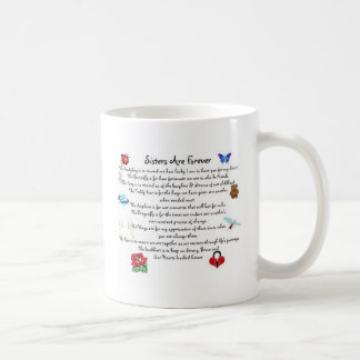 Sisters Are Forever Poem Basic White Mug