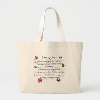 Sisters Are Forever Poem Jumbo Tote Bag