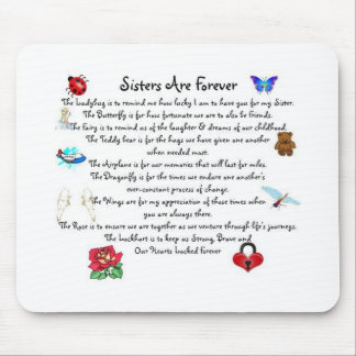 Sisters Are Forever Poem Mouse Mat
