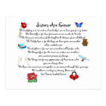 Sisters Are Forever Poem Post Card