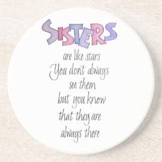 Sisters are like Stars Coaster