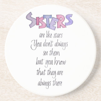Sisters are like Stars Drink Coasters