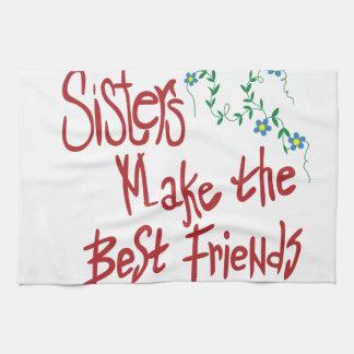 Sisters Best Friends Tea Towel