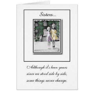 """Sisters"" Birthday Card"