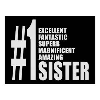 Sisters Birthdays Gifts : Number One Sister Print