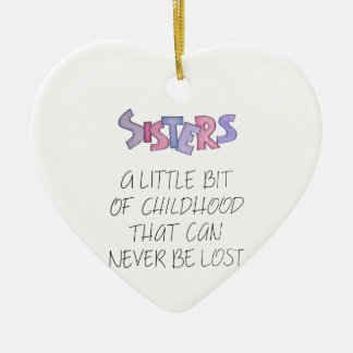 Sisters Ceramic Heart Decoration