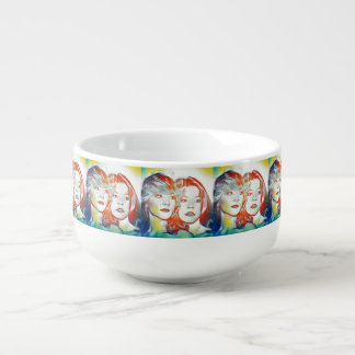 """Sisters"" Collection  Filtered Soup Mug"