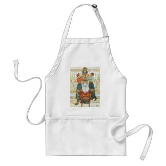 Sisters Decorating for Holiday Apron
