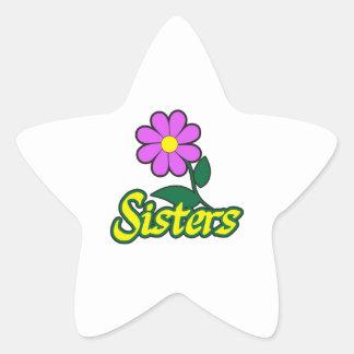 SISTERS FLOWER STAR STICKER