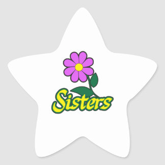 SISTERS FLOWER STAR STICKERS