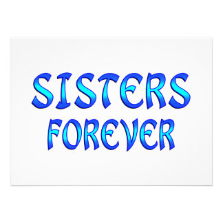Sisters Forever Personalized Invite
