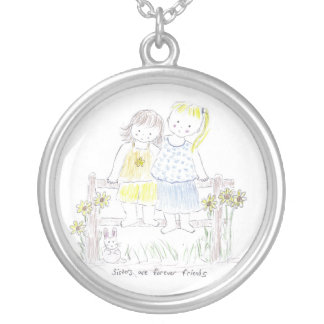 Sisters Forever Silver Plated Necklace