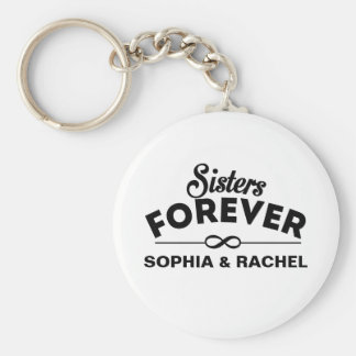 Sisters Forever Template Key Ring