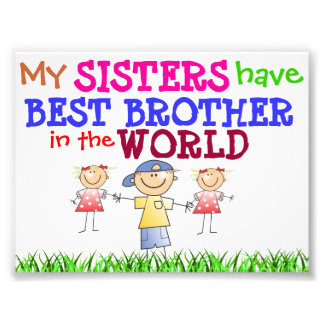 Sisters have Best Brother Photo