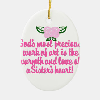 Sisters Heart Christmas Ornament