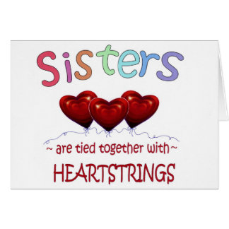 Sisters Heartstrings Note Card